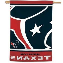 """HOUSTON TEXANS MEGA LOGO 28""""X40"""" BANNER FLAG BRAND NEW WINCR"""