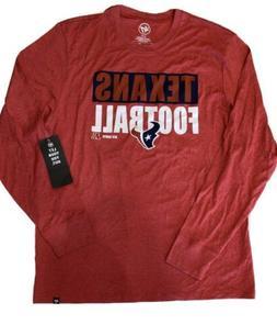 Houston Texans 47 Brand Men's long sleeve t-shirt NWT Size X
