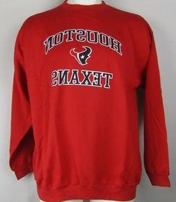 Houston Texans Men's Red NFL Team Apparel 2XL Pullover Crew