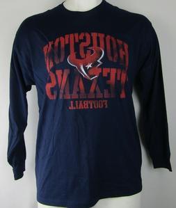 Houston Texans Men's NFL Team Apparel Navy Blue Long Sleeve