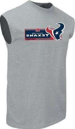 Houston Texans Mens Grey Critical Victory VII Sleeveless Shi