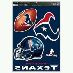 HOUSTON TEXANS MULTI-USE DECALS 4 DIFFERENT PER SHEET 11X17
