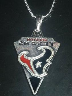 Houston Texans Necklace Pendant Sterling Silver Chain NFL Fo