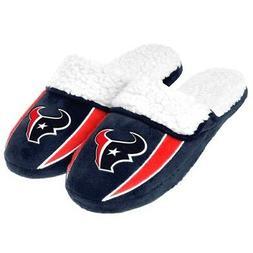 Houston Texans NFL 2013 Mens Sherpa Slide Slippers