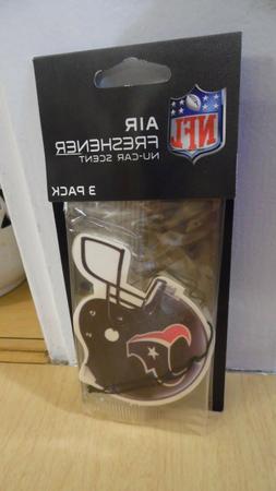 HOUSTON TEXANS NFL AIR FRESHENER 3 PACK