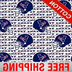 """Houston Texans NFL Cotton Fabric - 60"""" Wide - Style# 6188 -"""