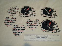Houston Texans NFL Football Cotton Fabric Iron-On Patches Em