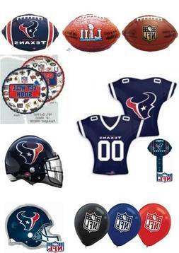 Houston Texans NFL Helium Balloons Party Ware Decoration Nov