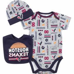Houston Texans NFL Infant/Baby Team 3-pc Bodysuit,Bib,Cap Se
