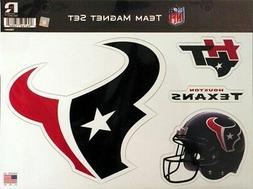 Houston Texans NFL LOGO Team Magnet Set FREE US SHIPPING