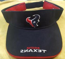 HOUSTON TEXANS NFL SUN VISOR NAVY RED FOOTBALL REEBOK HAT CA