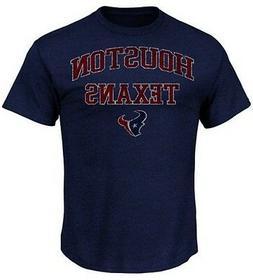Houston Texans NFL Majestic Team Shine T Shirt Navy Heather