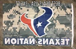 houston texans nfl texans nation 3x5 ft