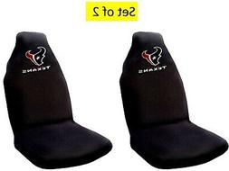 Houston Texans Pair Premium Embroidered Auto Seat Covers Bla
