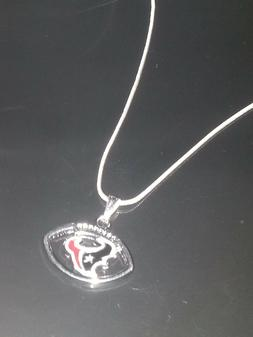 Houston Texans Pendant Necklace Sterling Silver Chain NFL Fo