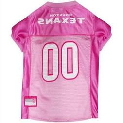 Houston Texans Pink Pet Jersey from StayGoldenDoodle.com