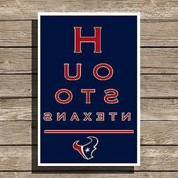 """Houston Texans Poster NFL Football Eyechart Art Print 12x16"""""""