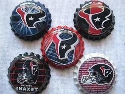 Houston Texans Scrapbooking Crafts Bottle Caps Set #1 - Magn