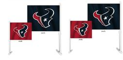 Houston Texans Set of 2 Home and Away Car Flags