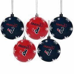 Houston Texans Shatterproof BALLS Christmas Tree Holiday Orn
