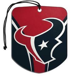 Houston Texans Shield Design Air Freshener 2 Pack  NFL Fresh