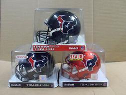 Houston Texans Speed Mini 3- Helmet Bundle 1-Blaze 1- revolu