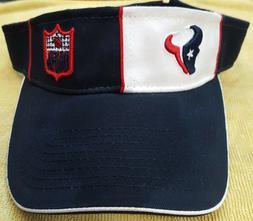 HOUSTON TEXANS SUN VISOR NAVY RED FOOTBALL REEBOK HAT CAP WA