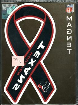 "Houston Texans    Team  Ribbon Magnet  for car 7""  Support y"