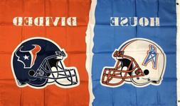 Houston Texans vs Houston Oilers House Divided Flag 3x5 ft N