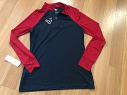 Houston Texans Women's L NFL Team Apparel 1/4 Zip Lightweigh