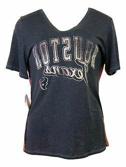 Houston Texans Women's Plus Size Color Blocked V-neck T-shir