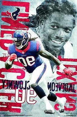 JADEVEON CLOWNEY - HOUSTON TEXANS POSTER - 22x34 NFL FOOTBAL