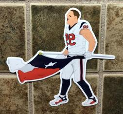 JJ Watt Houston Texans Logo Car Sticker NFL Decal Football T