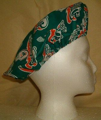 Bouffant Scrub Hat Cap with Teams Cotton Fabrics Skull