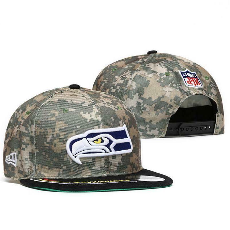 Embroidered NFL Logo Adjustable Flat Hats Unisex