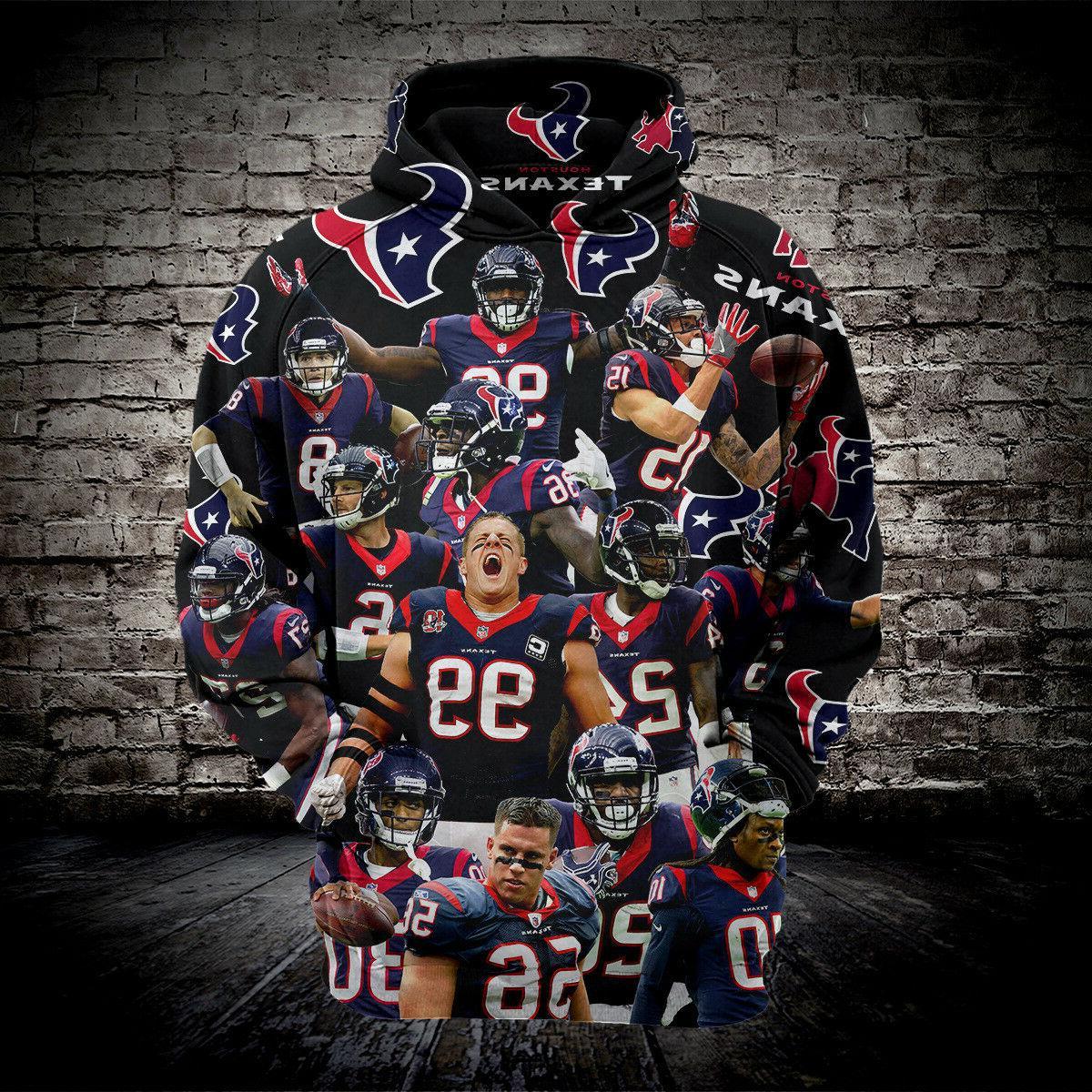 football hoodies 3d print houston texans sweatshirt
