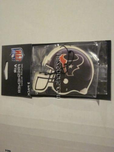 houston texans 3 pack air freshener