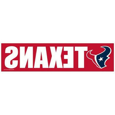 houston texans bumper sticker new 3x11 inches