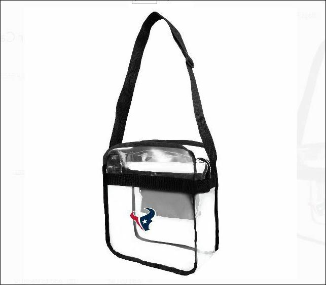 houston texans clear bag stadium approved purse