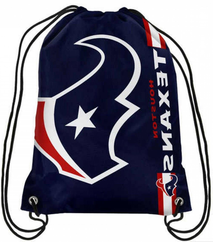 houston texans fabric men drawstring buggy bags