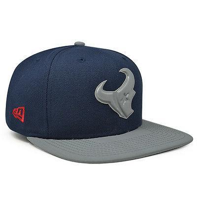 Houston GLEAMER Reflective Navy Snapback 9Fifty New Era Hat