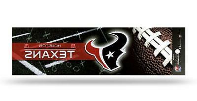 houston texans glitter bumper sticker new nfl