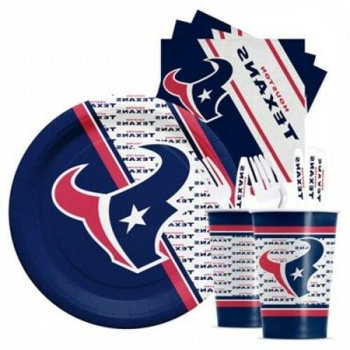 houston texans nfl party pack 20 cups