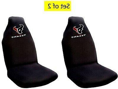 houston texans pair premium embroidered auto seat