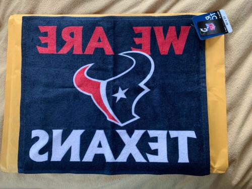 """WinCraft Rally Towel 15"""" 18"""" We Are Texans Blue New"""