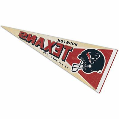 houston texans retro vintage logo pennant flag