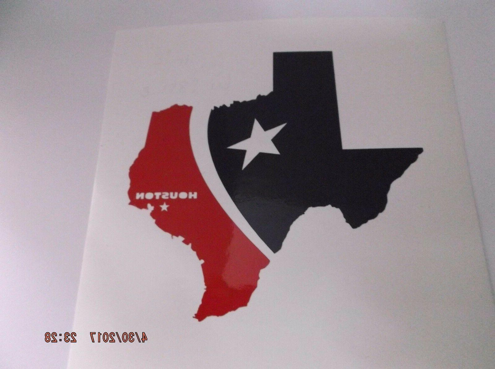 houston texans state decal sticker for rambler