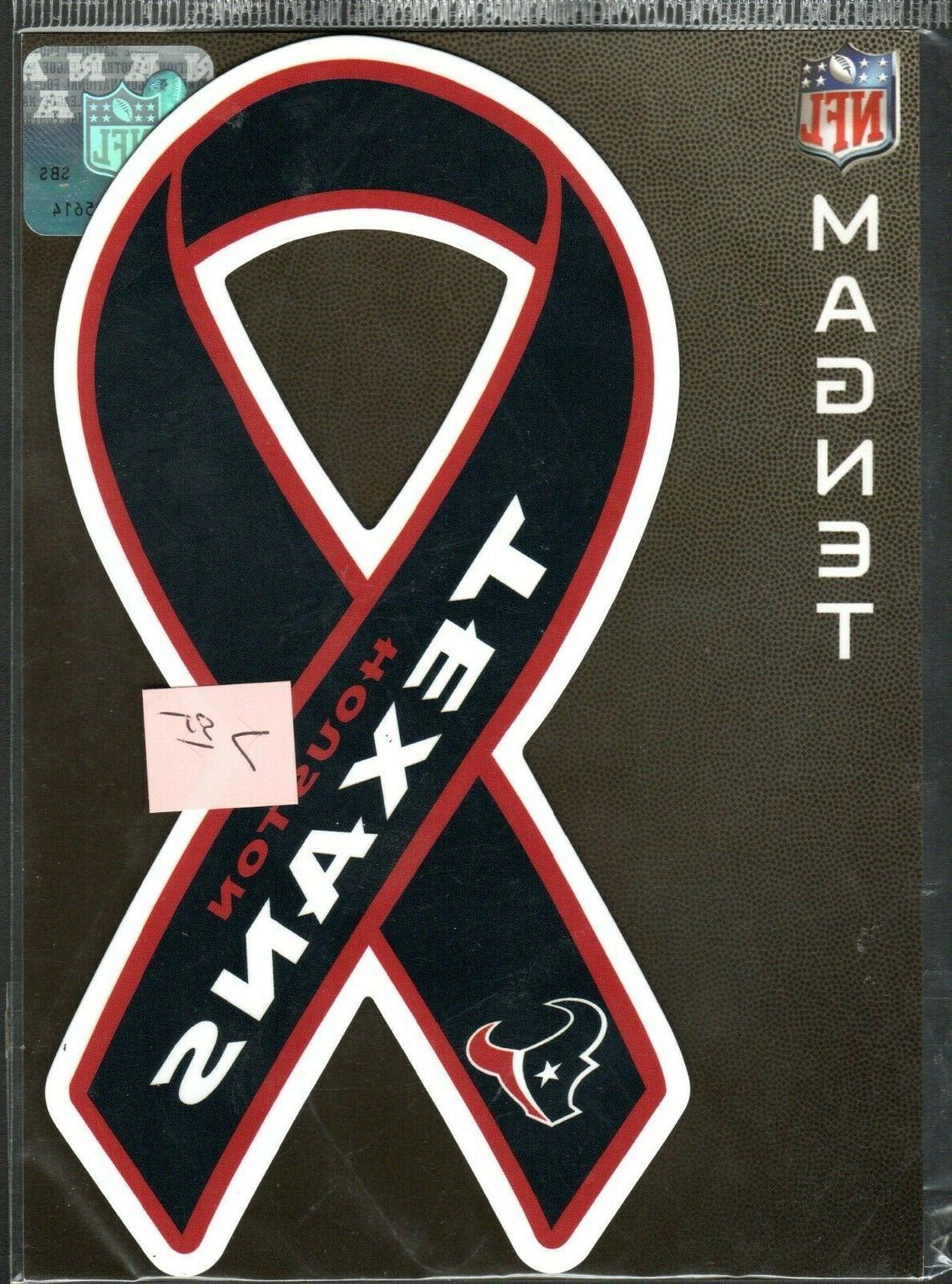 houston texans team ribbon magnet for car