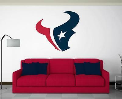 houston texans wall decal vinyl graphics repositionable