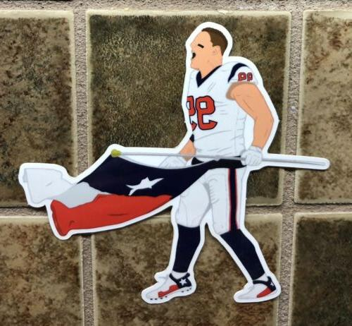 jj watt houston texans logo car sticker